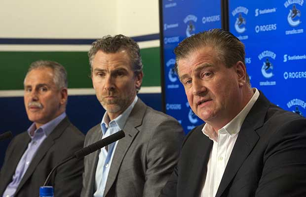 Vancouver Canucks management end of season farewell (P)