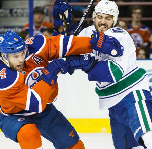 Positioning has always allowed Chris Tanev to fend off forwards.