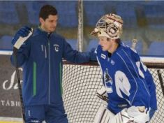 Dan Cloutier with prospect Thatcher Demko